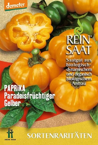Paprika - Paradeisfrüchtiger Gelber Tomatanpaprika - Bio