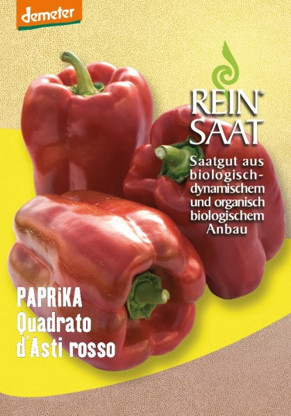 Paprika - Quadrato d´Asti rosso/Selektion ReinSaat - Bio