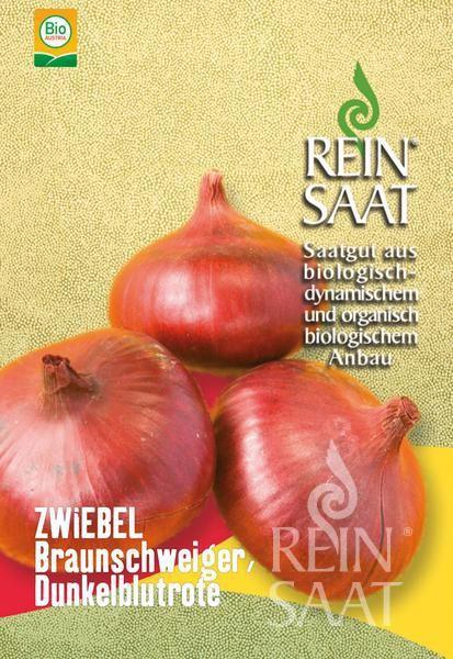 Zwiebel - De Brunswick (dunkelblutrot) - Bio